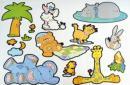 Samolepky (nálepky) na zeď - dětské motivy*
